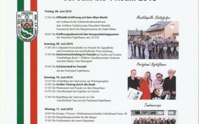 Hildener Schützen- und Heimatfest – 8. bis 11. Juni 2018