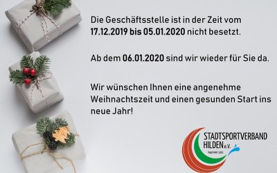 Weihnachtsferien 2019