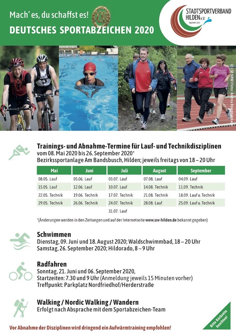 Flyer Sportabzeichen 2020