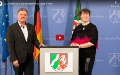 Video: 10 Millionen Euro Hilfsprogramm für den Sport in NRW